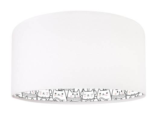 Pendelleuchte Kinderlampe Weiß Katzen Mädchen