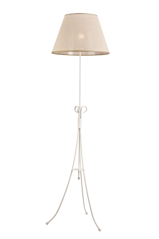 Stehlampe ABUELA Beige Stoff 160cm rund Landhaus