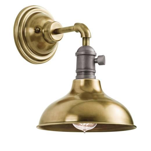 Extravagante Wandlampe SINO Messing Industrie Metall