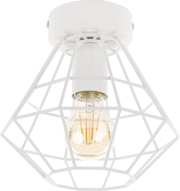 Deckenlampe DIAMOND Weiß Metall Ø15,5cm Modern E27