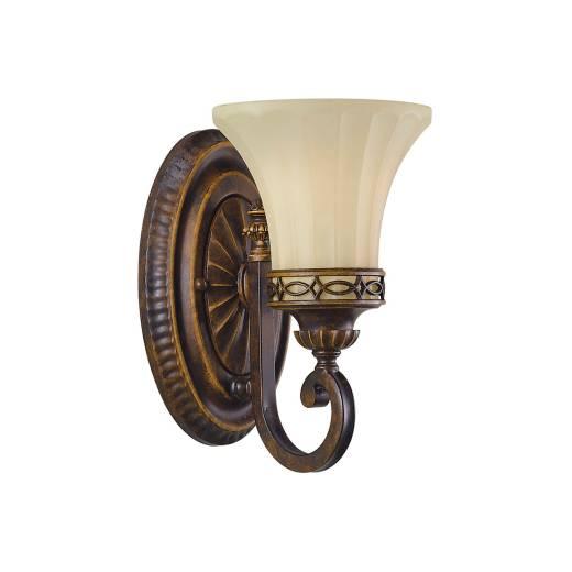 Wandlampe ANABELL 1 in Braun B:16cm Landhaus Lampe