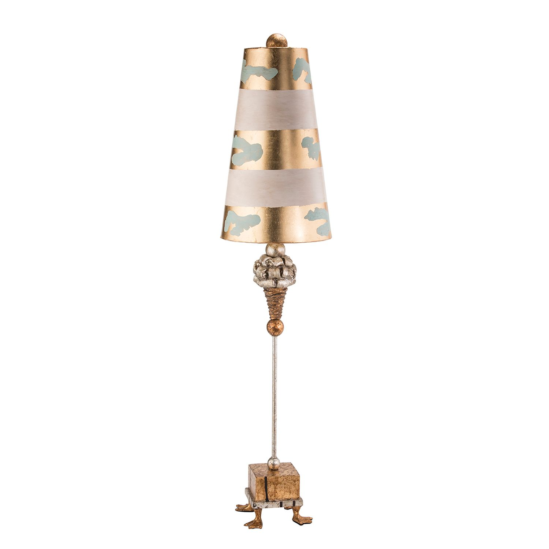 Tischlampe AMIN Blattgold H:102cm Ø23cm Bodenlampe