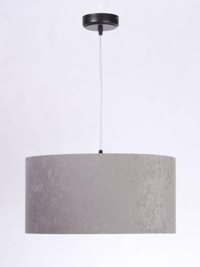 Pendellampe Esstisch Beleuchtung Grau Stoff