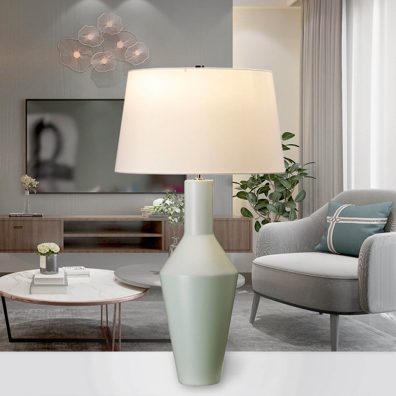 Vintage Tischlampe GALAHAD Keramik H:80cm Lampe