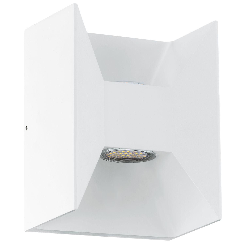Design Wandleuchte LED Außen Morino Weiß 2-Flmg