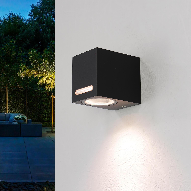 Wandlampe Aluminium eckig IP44 außen praktisch