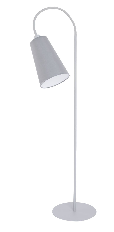 Grau Weiß Stehlampe Metall flexibler Arm 145cm