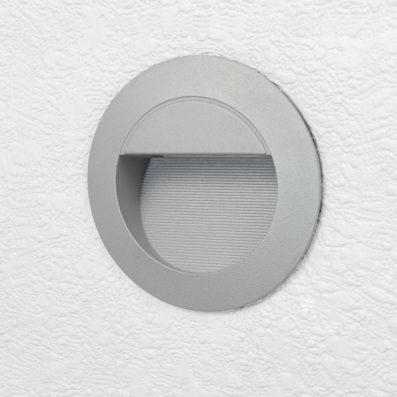 Runder Einbau Spotstrahler Zimba-LED Silber