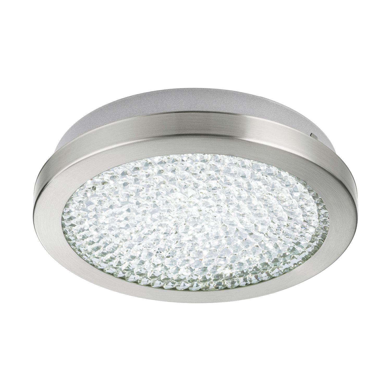Außergewöhnliche LED Deckenlampe Nickel Matt Ø28cm