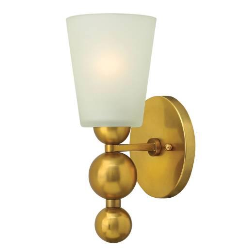Vintage Wandleuchte ROMINA in Messing B:14cm Lampe