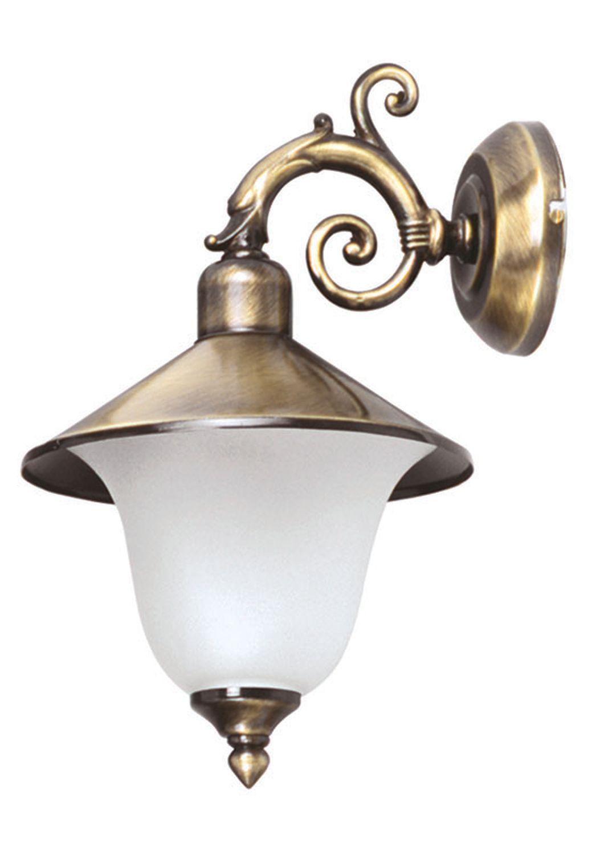 Außenwandlampe Messing Glas Haus Hof Rustikal