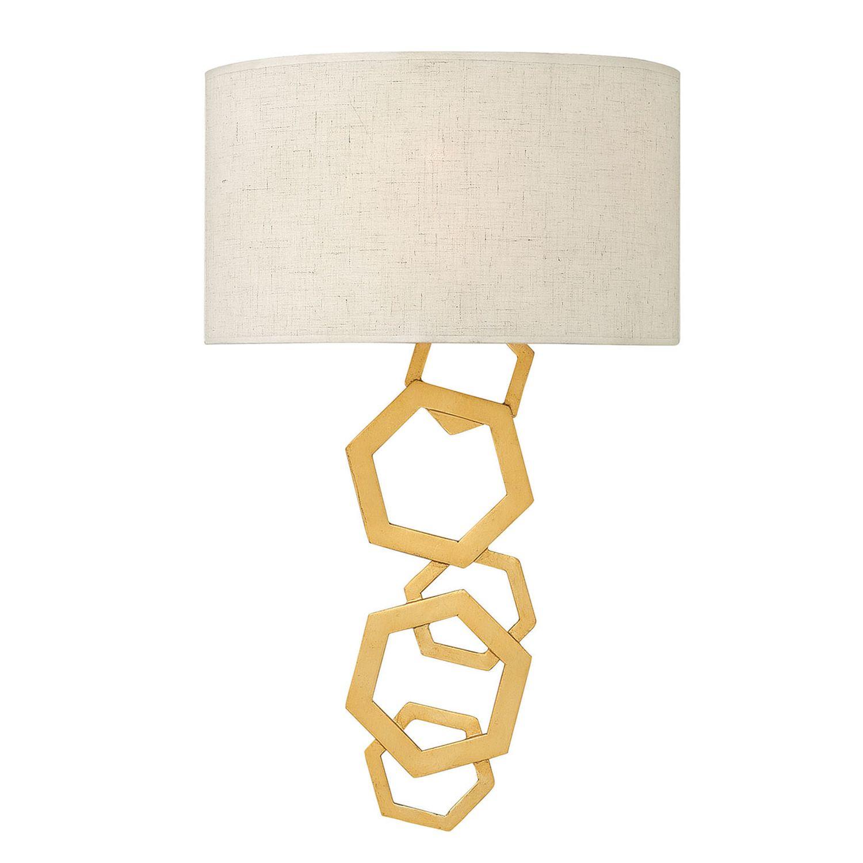 Wandleuchte JANNE Creme Gold B:30cm Design Lampe