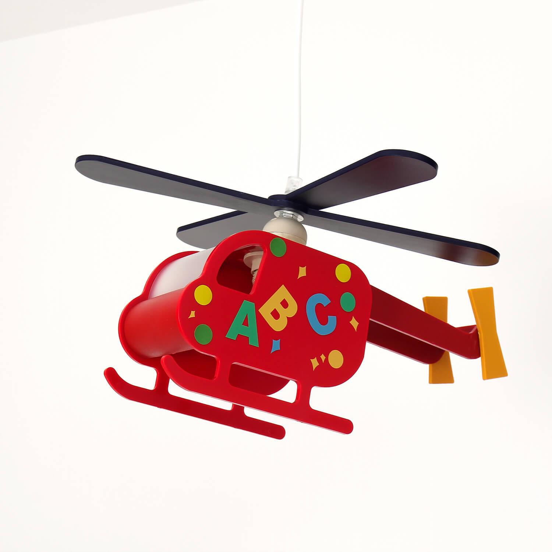 Kinderzimmerlampe Rot Helikopter verspielt