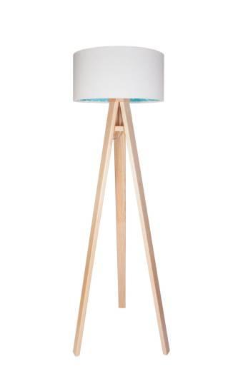Stehlampe PUNKTI Weiß Blau Kinder Dreibein 140cm