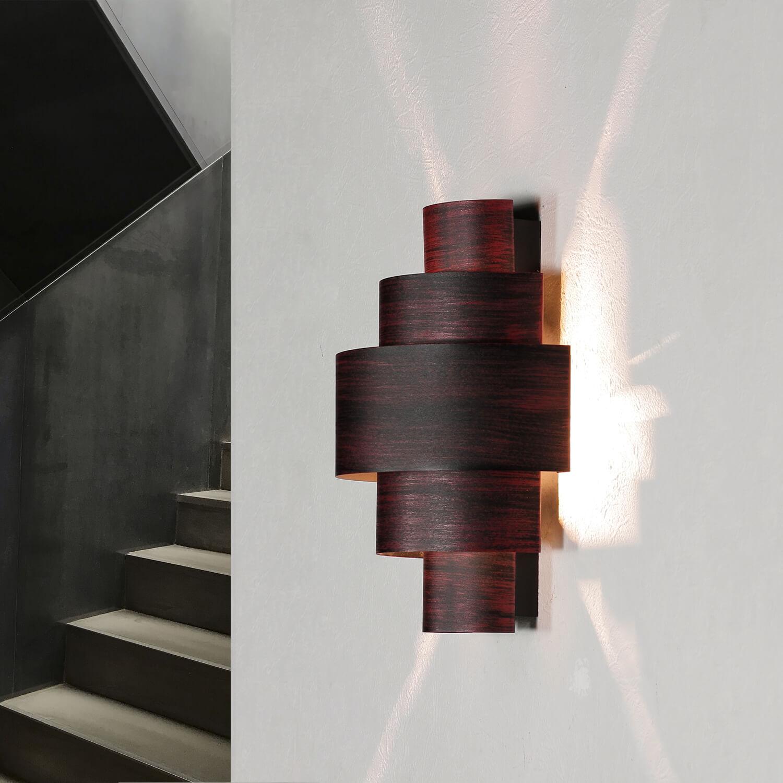 Moderne Wandlampe Braun Lichtmuster CAMILLO