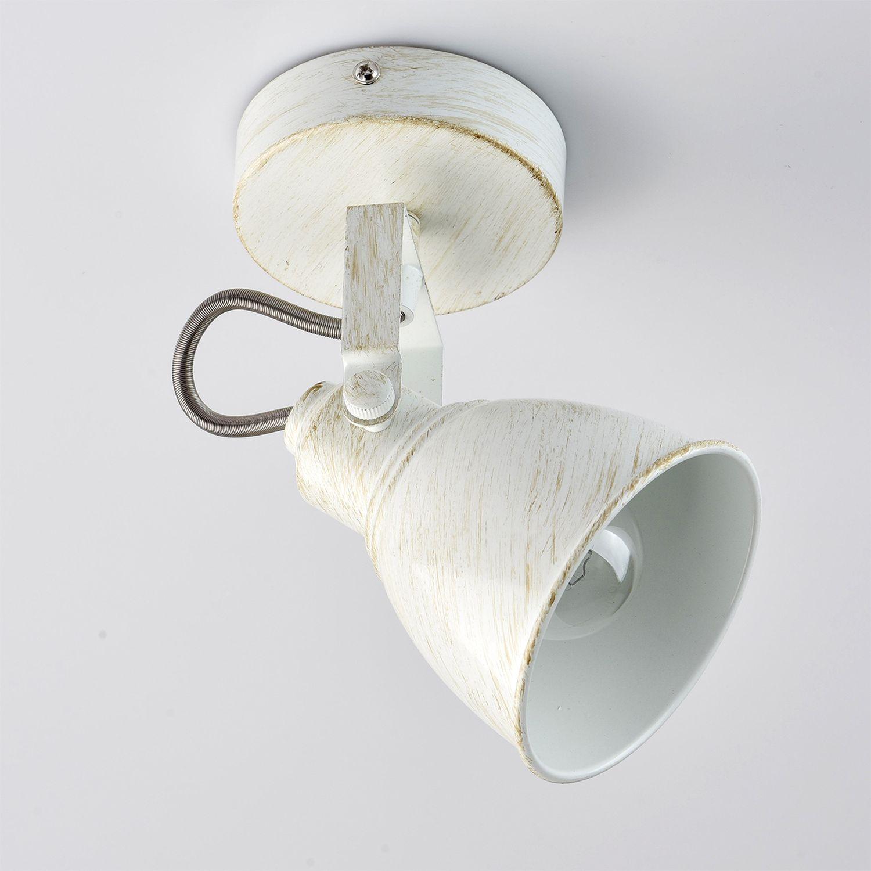 Flexibler Deckenstrahler STIPA Shabby Weiß E14