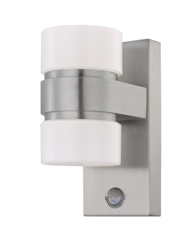 Wandleuchte LED Außen Atollari Silber 2-Flmg