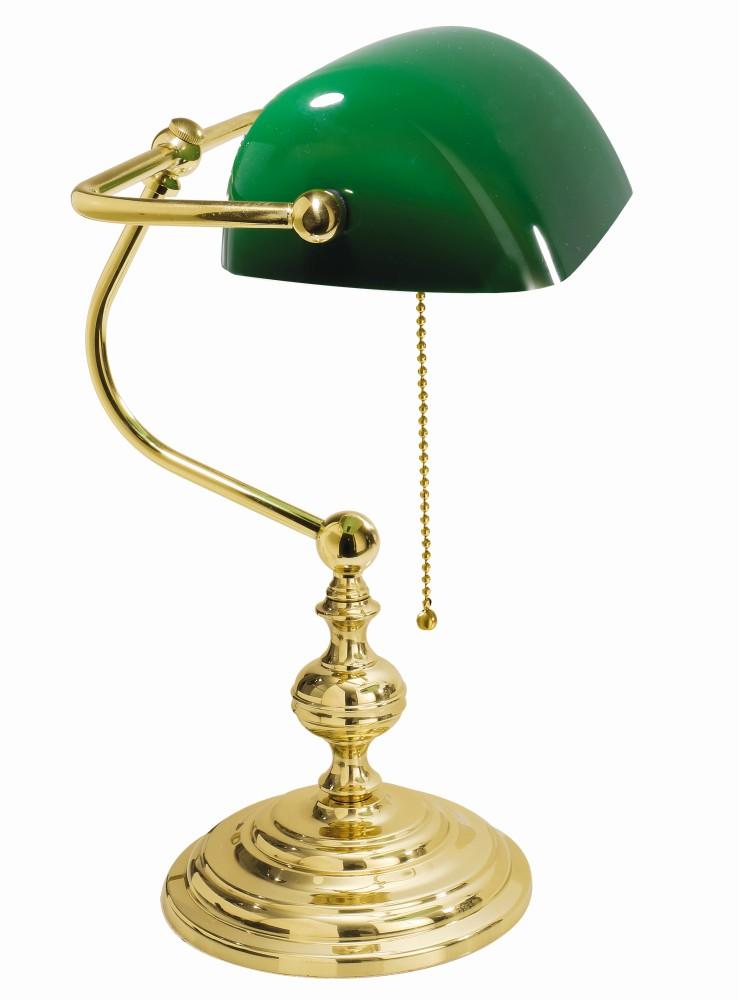Banker Tischlampe Gold 24K aus Echt-Messing