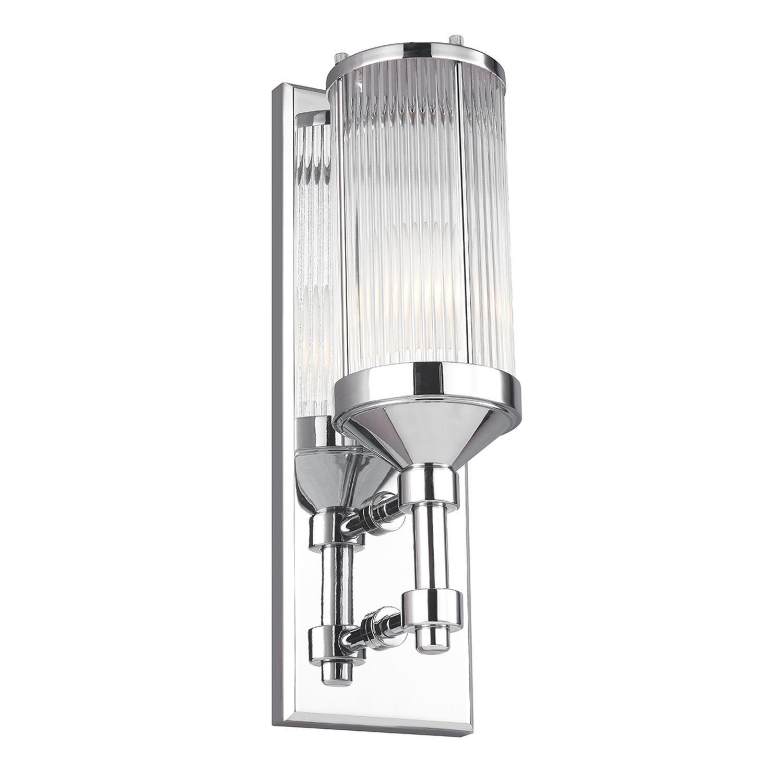 Bad Wandlampe in Chrom IP44 Design Leuchte ERVA