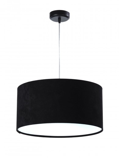 Pendelleuchte Esstisch Schwarz Weiß Stoff Lampe
