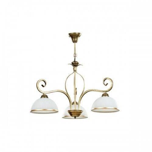Deckenleuchte Gold Antik Weiß Glasschirm 3-flammig