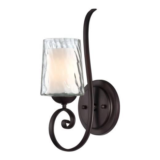 Wandlampe Glas Metall Kerzen Design PAROS