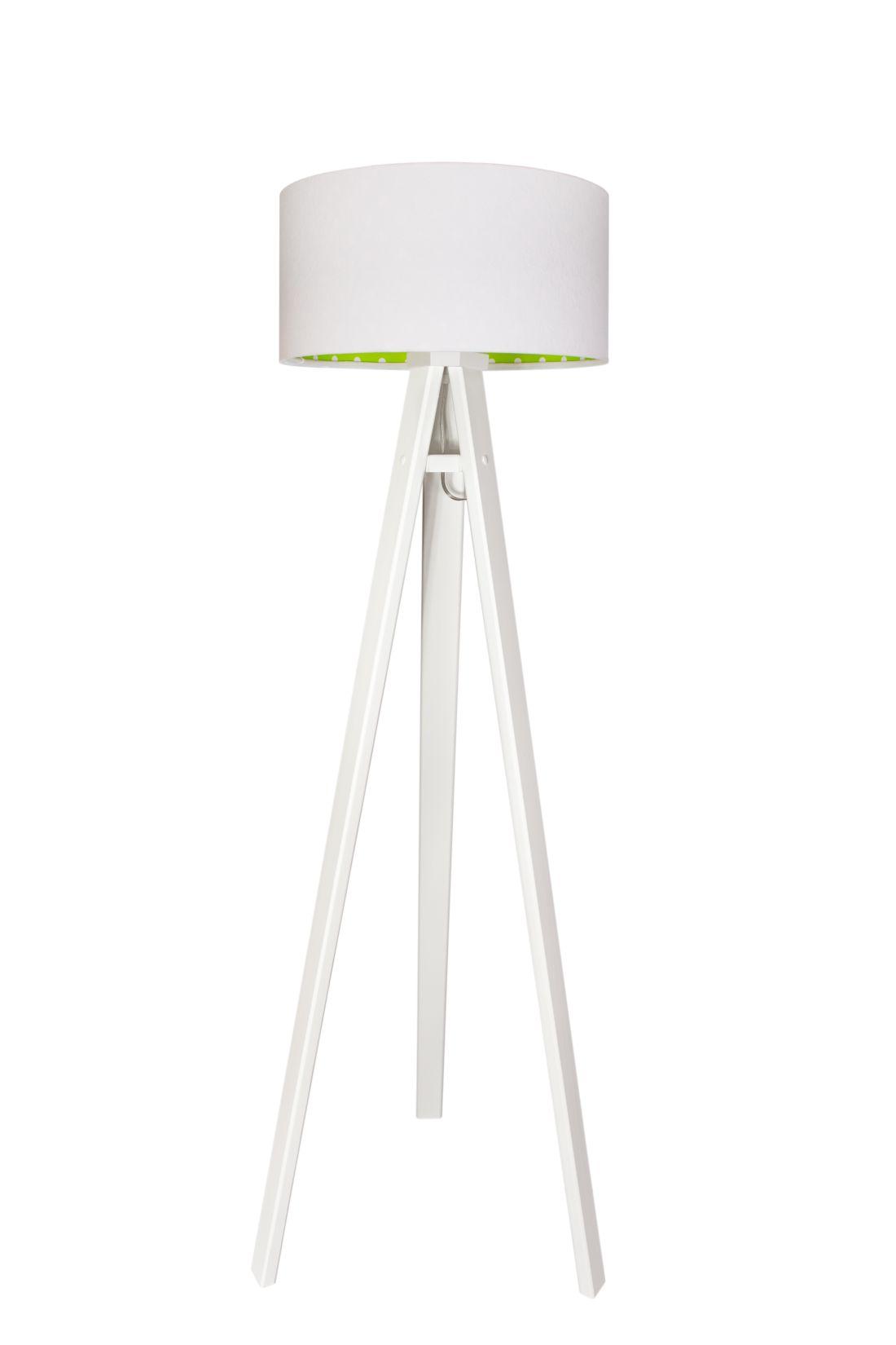 Stehlampe BRINA Weiß Grün Kinder Dreibein 140cm