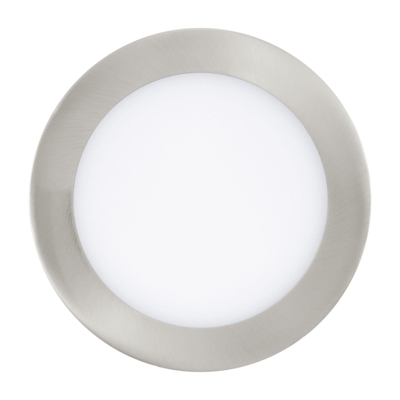 Runder Einbau Strahler LED Fueva Nickel-Matt Ø17cm