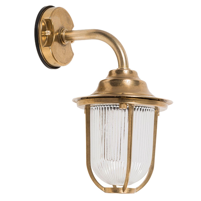 Wandlampe Außen Messing Maritim IP64 Haus Balkon