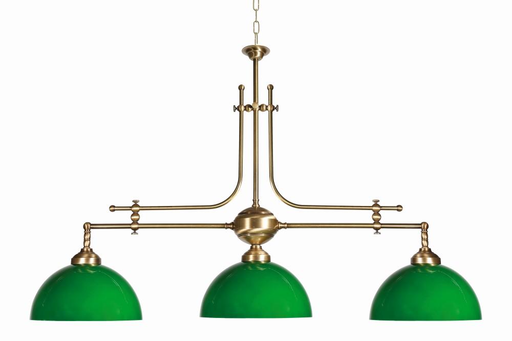 Jugendstil Profi Billardtischlampe E27 Grün Esszimmer