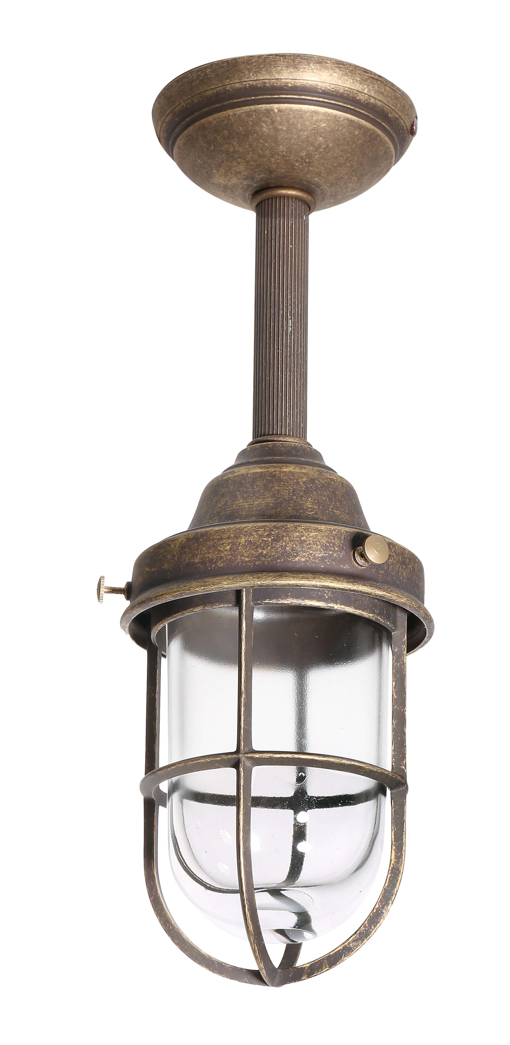 Deckenlampe Außen Maritim Echt-Messing