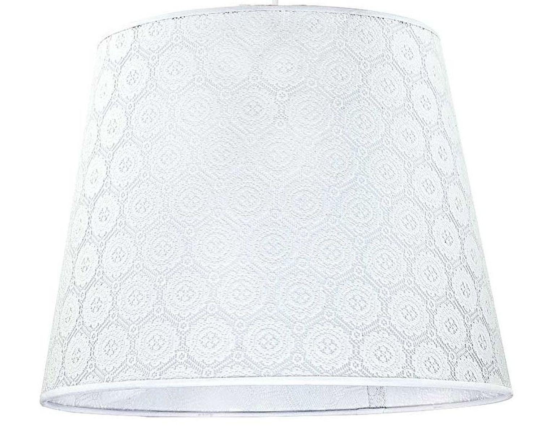 Textil Lampenschirm Weiß gehäkelt Pendelleuchte