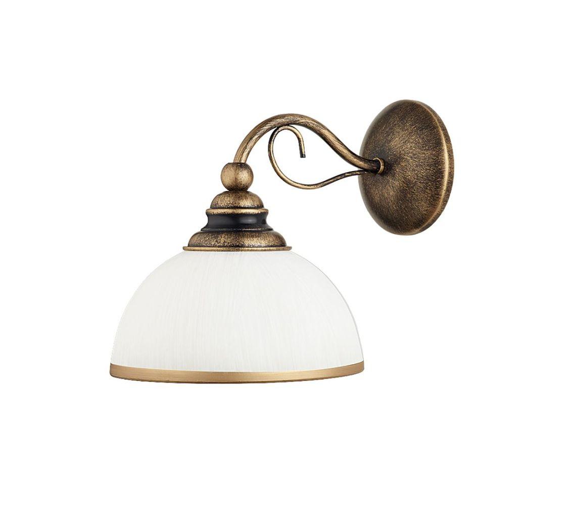 Wandlampe DELMARE Shabby Braun antik Wohnzimmer