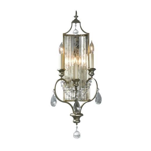 Wandlampe CANDELA 7 in Silber Spiegelnd Kerzenform