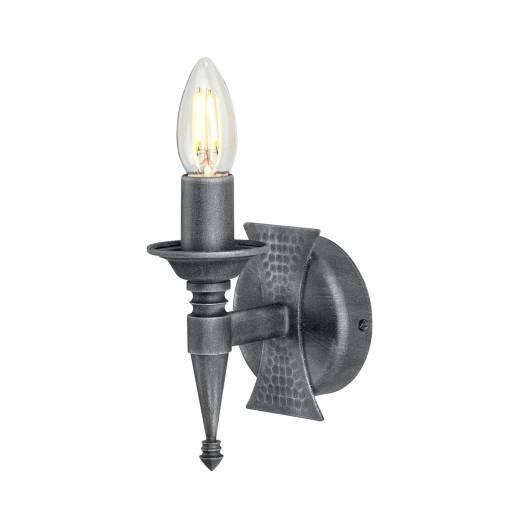 Wandleuchte CAMELOT 7 Eisen in Silber Antik Lampe