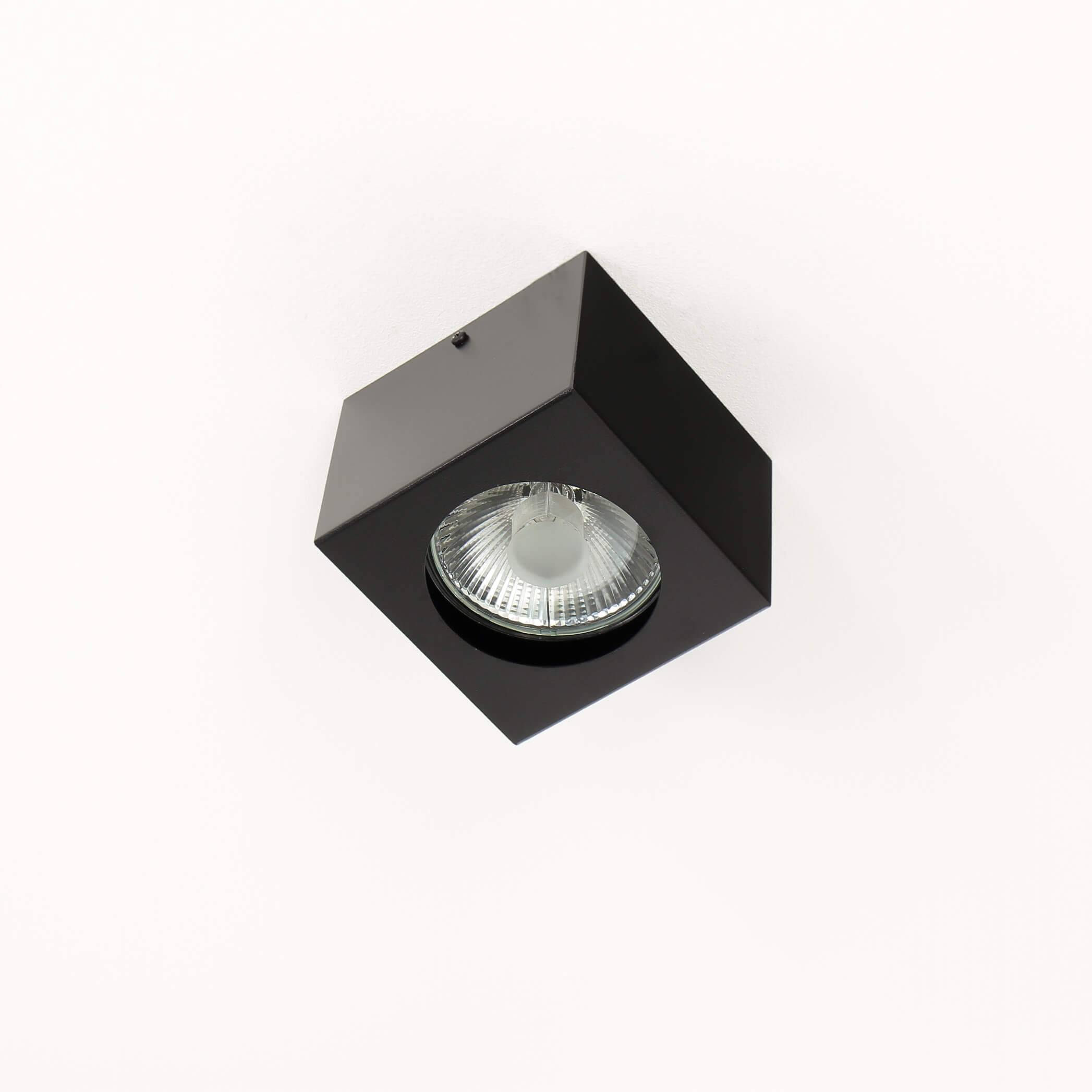 Spot Lampe Schwarz Decke quadratisch GU10
