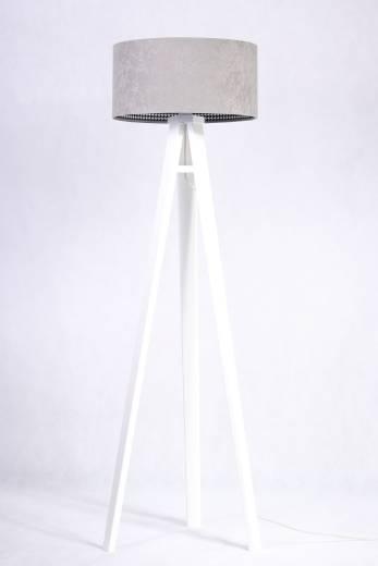 Stehlampe CHRISTIAN Grau Retro Dreibein 140cm