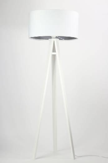 Stehlampe CHRISTIAN Weiß Retro Dreibein 145cm