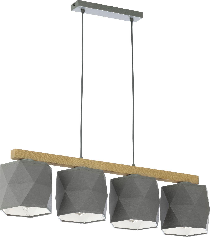 BIAARO Pendelleuchte in Graphit Holz 4-flmg Lampe
