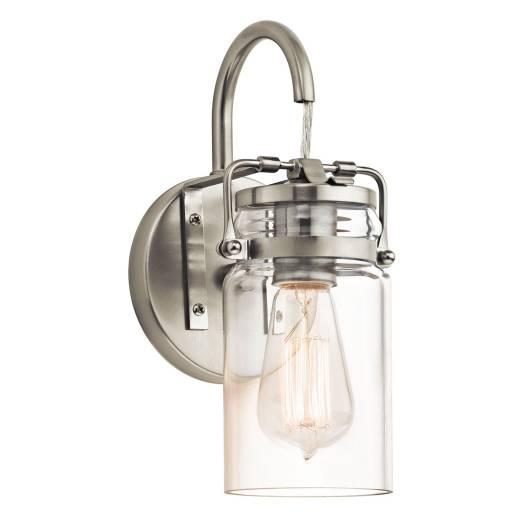 Design Wandleuchte Glas Metall Industrial Look