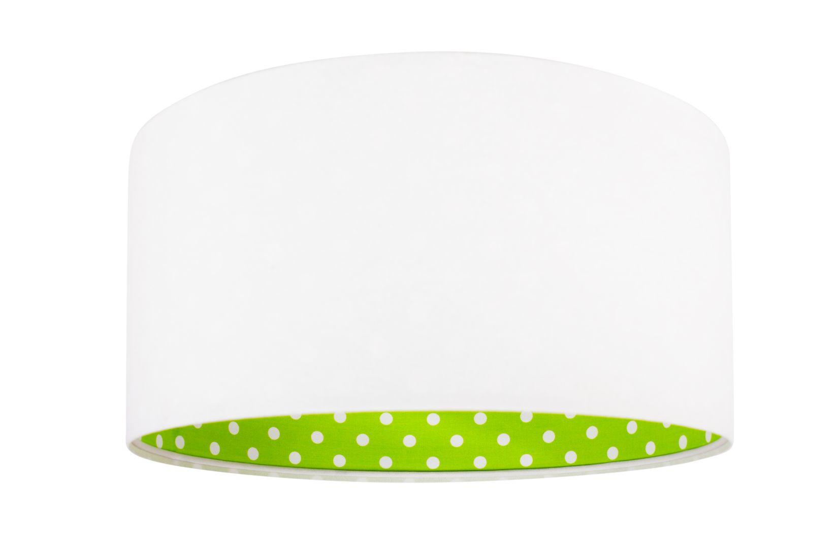 Kinderzimmerlampe BRINA Weiß Grün rund Mädchen