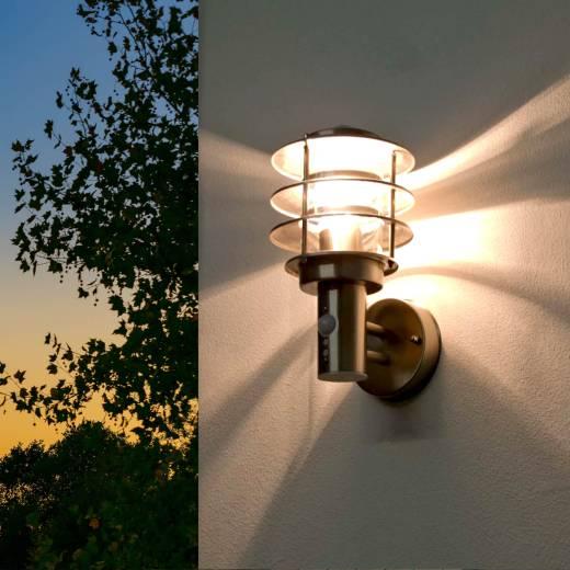 Design Wandlampe für Außen Edelstahl wetterfest MALMÖ