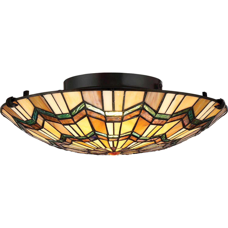 Premium Tiffany Lampe FARFALLA Buntglas rund Ø42cm