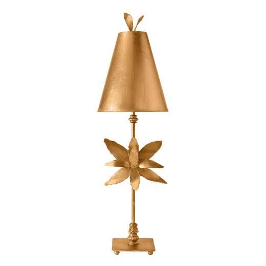 Stehlampe Niedrig Gold Modern kunstvoll 86cm Wohnzimmer
