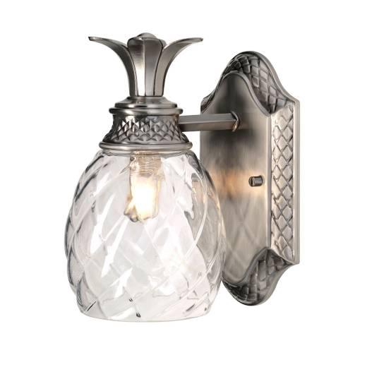 Design Badlampe IP44 dekorativ Glas Schirm LED