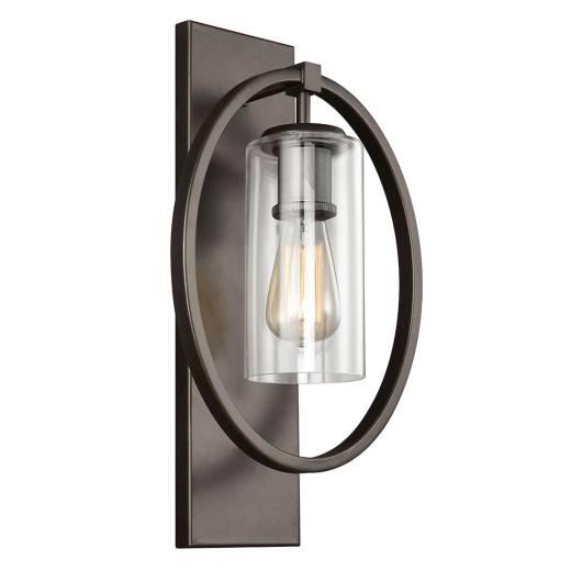 Vintage Wandleuchte STRALING Bronze B:46cm Lampe