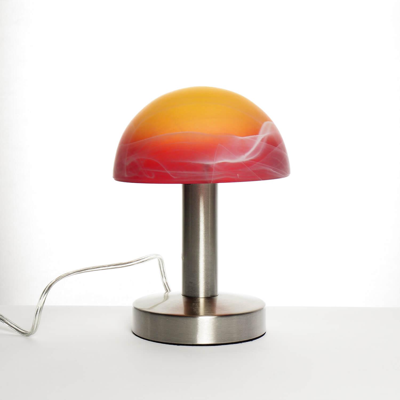 Tischleuchte mit Touchdimmer orange