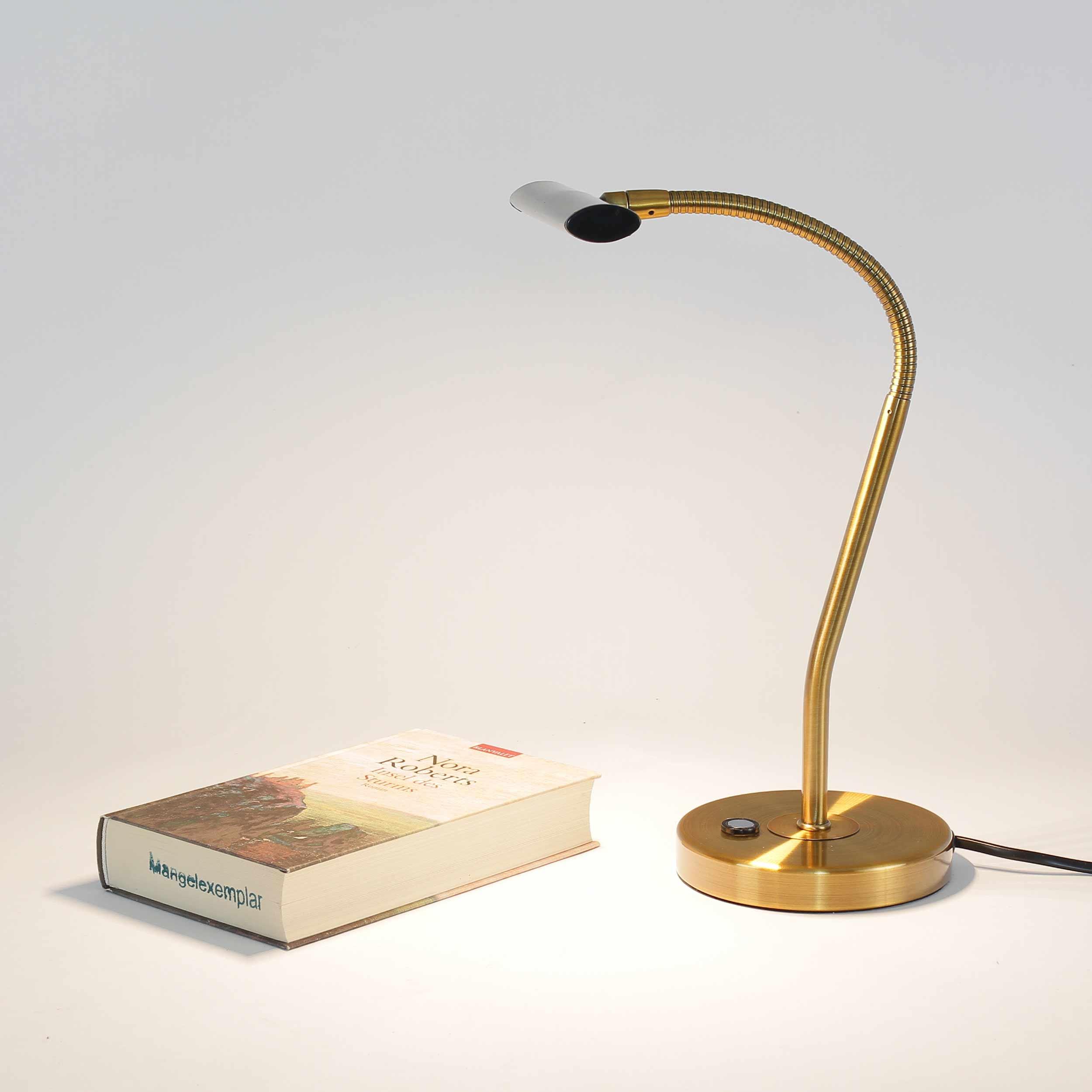 LED Tischleuchte Touch Dimmer Flexarm in Messing