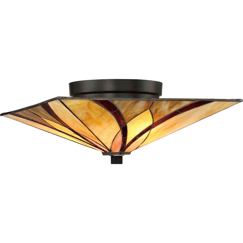 Quadratische Tiffany Lampe Decke Premium Design