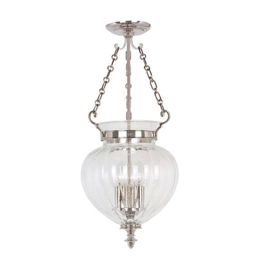 Deckenleuchte CANDELA 6 Nickel Ø28cm 3-flmg Lampe